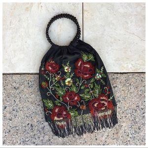 Moyna Beaded Fringe Hand Bag